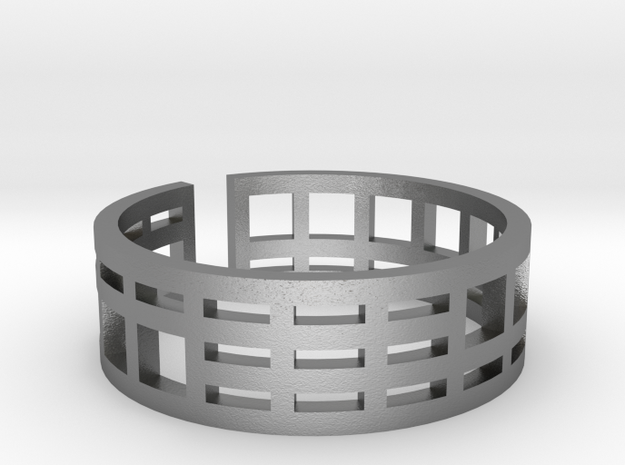 Architecture ring Corbusier Unité d'Hab size 8,5-9 in Natural Silver