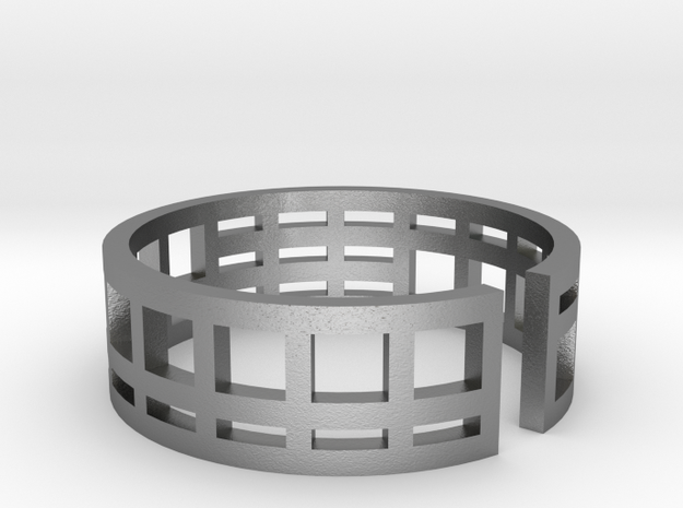 Architecture ring Corbusier Unité d'Hab size 7-8 in Natural Silver