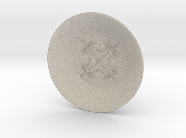 Seal of the Sun Charging Bowl (large) in Natural Sandstone