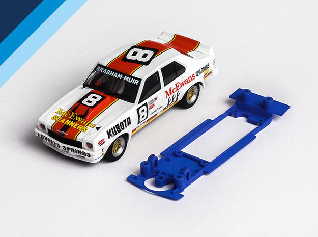 1/32 Scalextric Holden Torana Chassis Slot.it pod in White Natural Versatile Plastic