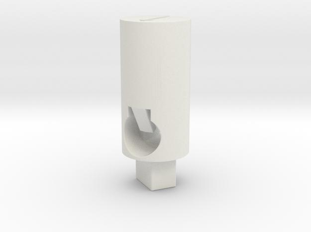 Tippmann M4 Hop Up Nub - Long flat (above #2500) in White Natural Versatile Plastic