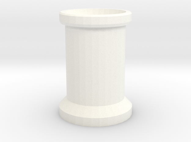 Smoke Stack 2 Bricks Tall in White Strong & Flexible Polished