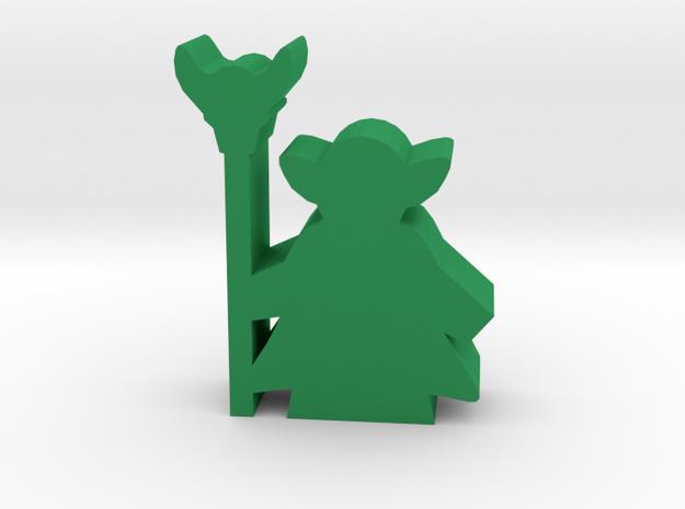 Game Piece, Goblin Shaman in Green Processed Versatile Plastic