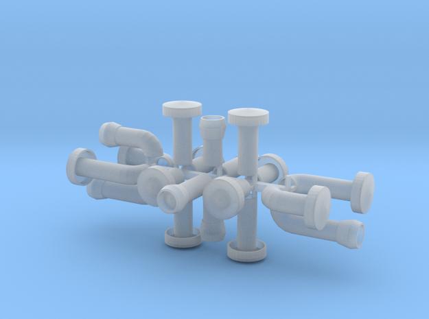 Dachlüfter Set2 alt 20 Teile 1:120 in Smooth Fine Detail Plastic
