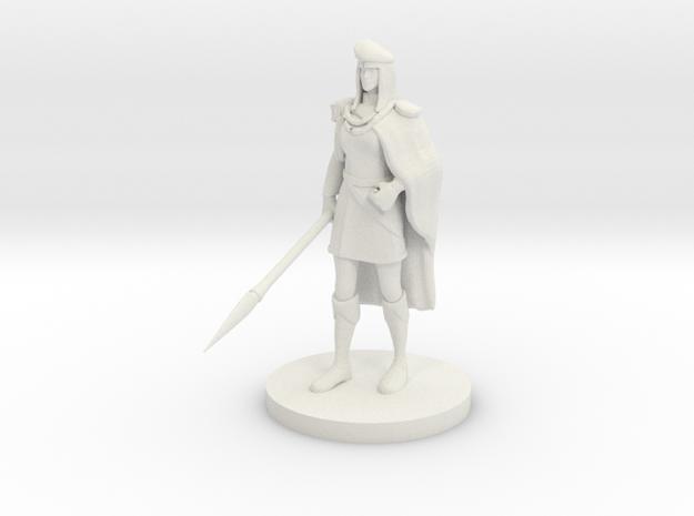 Noblewoman  in White Natural Versatile Plastic