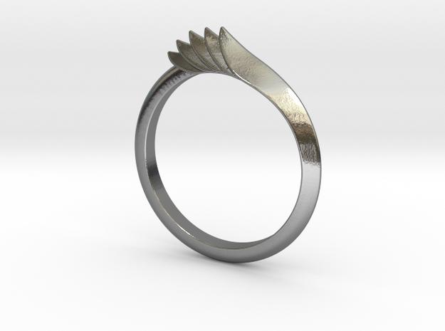 Ridgeback Ring sz 6.5 in Polished Silver