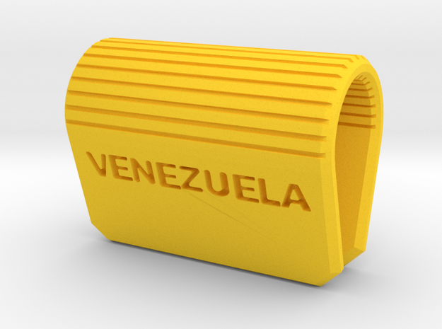 Webcam Security Cover Venezuela in Yellow Strong & Flexible Polished