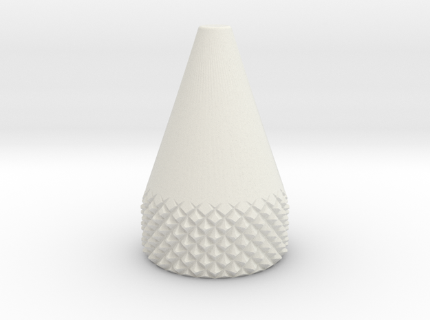 Cone .375 Inch O.D. in White Natural Versatile Plastic