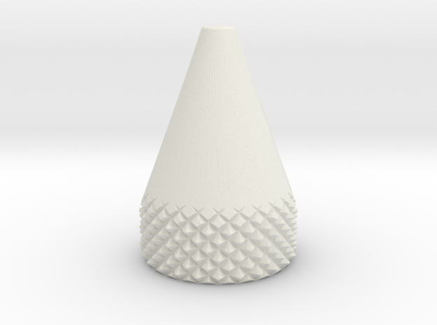 Cone 10 MM O.D. in White Natural Versatile Plastic