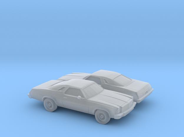 1/160 2X 1976/77 Chevrolet Chevelle Malibu Classic in Smooth Fine Detail Plastic