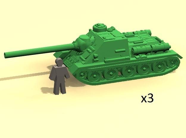 6mm SU-100 tank hunter (3) in Smoothest Fine Detail Plastic