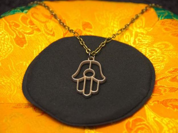Hamsa Pendant in Stainless Steel