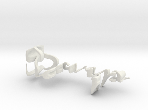 3dWordFlip: Sarp/Buda in White Natural Versatile Plastic