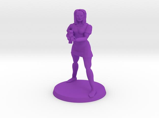 Claudia Zombie Hunter in Purple Processed Versatile Plastic