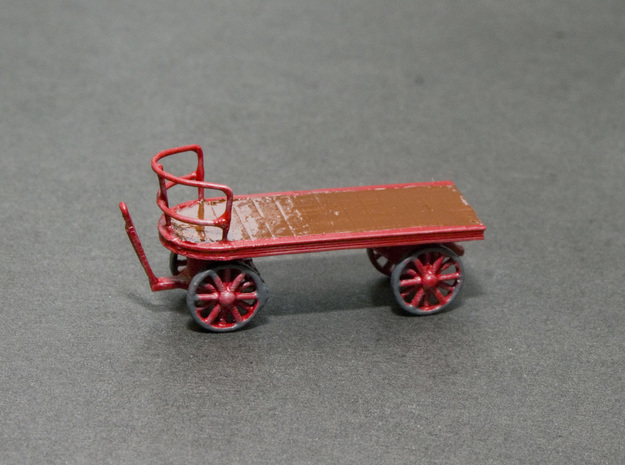Canadian Railway Postal Baggage Cart - HO (1:87) in Smooth Fine Detail Plastic