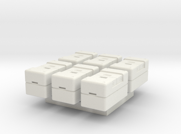 1-87 Scale SYFY Crate in White Natural Versatile Plastic