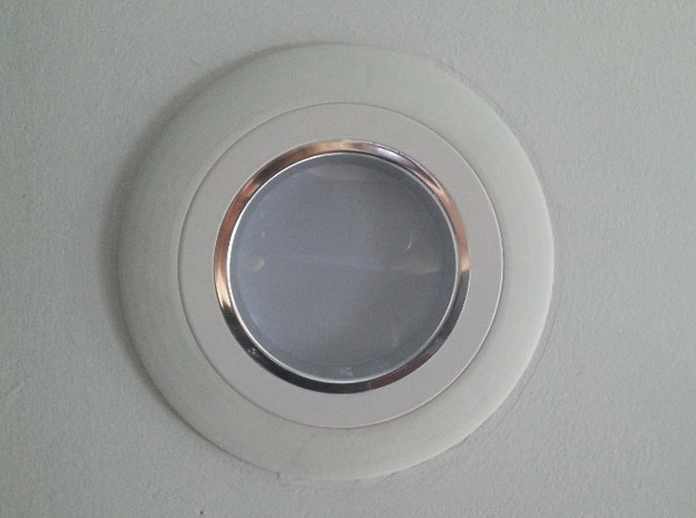 """Recessed Lighting Trim 4"""" to 6"""" Adapter 3d printed"""