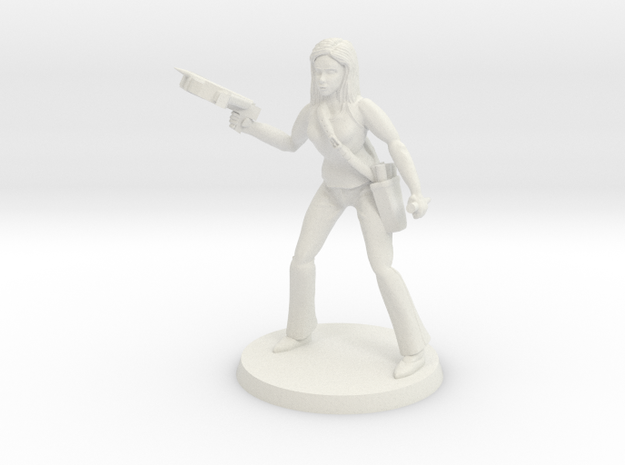 Lara the Slayer in White Natural Versatile Plastic