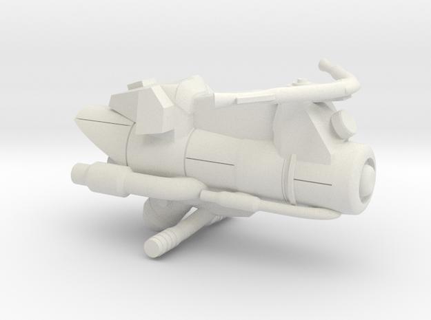 Civilian Jet Bike Model 3A in White Natural Versatile Plastic