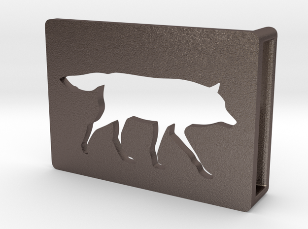 Belt Buckle - Wolf - M1SE in Stainless Steel
