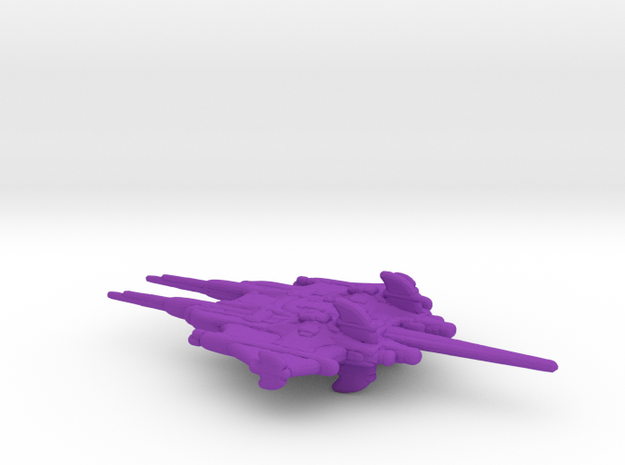 CR Primus Battlecruiser Full Thrust Scale WSF in Purple Processed Versatile Plastic