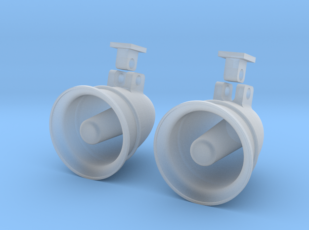 1.7 BELL MEGAPHONE in Smooth Fine Detail Plastic