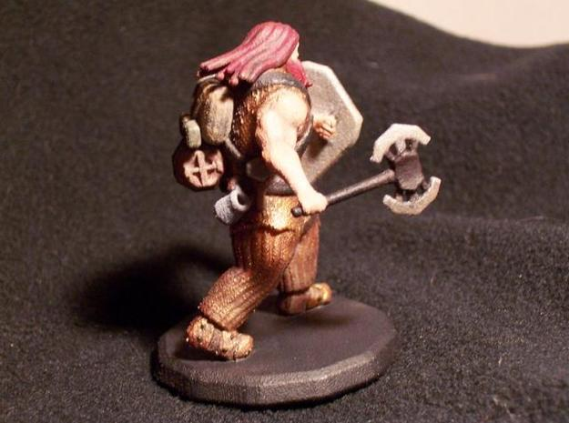 Dwarf Fighter (Large) 3d printed Painted (Right)