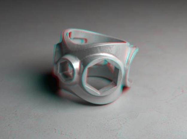 1086 ToolRing - size 10 (19,80 mm) 3d printed 1086 ToolRing - Anaglyph (front)