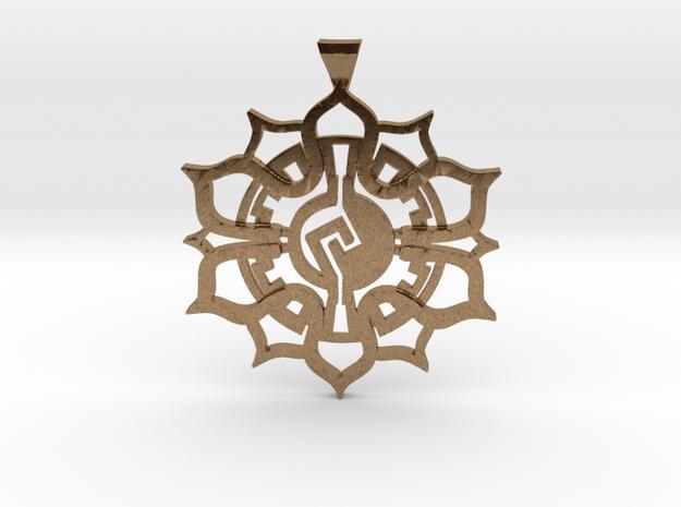 Lotus Pendant in Raw Brass