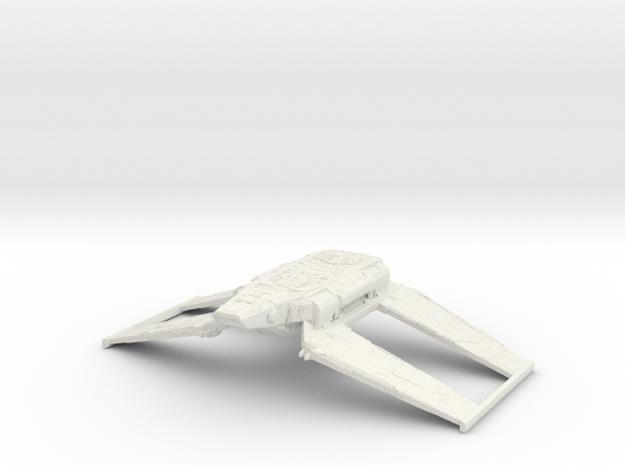 1/1000 Zeta-class Cargo Shuttle (flight) v2 in White Natural Versatile Plastic