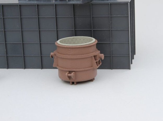 N-scale 250 ton Teeming Ladle, empty in Smooth Fine Detail Plastic