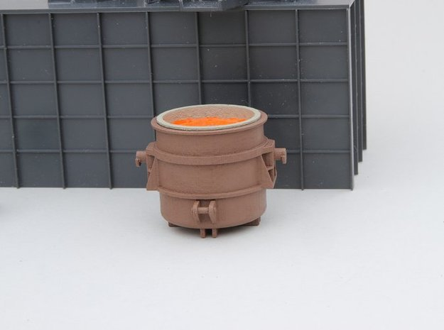 N-scale 250 ton Teeming Ladle, loaded in Smooth Fine Detail Plastic