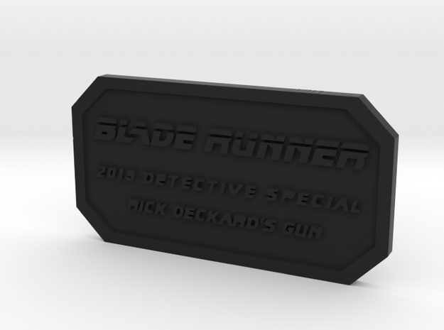 Label for PKD M2019 in Black Natural Versatile Plastic