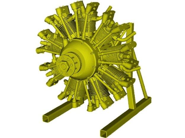 1/15 scale Wright J-5 Whirlwind R-790 engine x 1 in Smooth Fine Detail Plastic