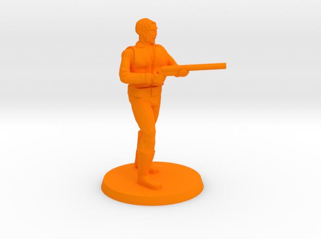 Dagonite with Double Barrel Shotgun in Orange Processed Versatile Plastic
