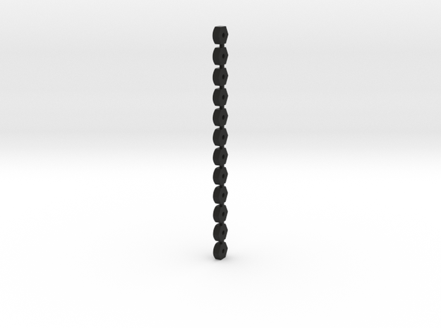 Wheel Lugs For 3D Printing.1 in Black Natural Versatile Plastic