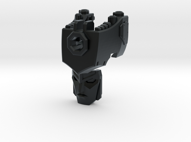 (2mm Screw) TR Faceplate & Helm for CW Megatron in Black Hi-Def Acrylate