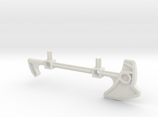 Bionicle staff (Nokama, set form) in White Natural Versatile Plastic