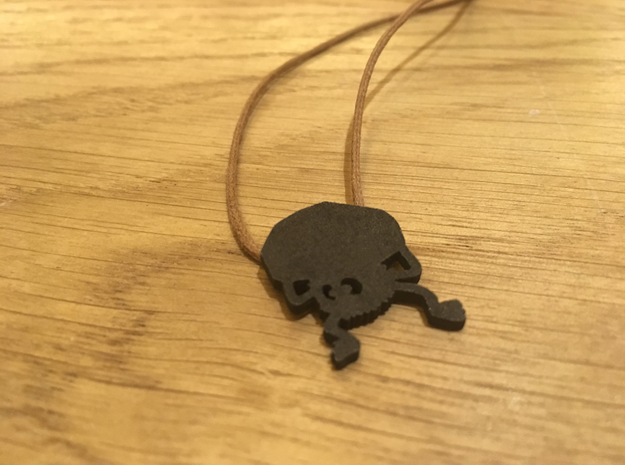 Spirited Away: Soot Ball Carrying Coal - Necklace  in Matte Black Steel