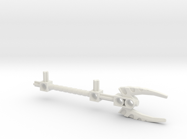 Bionicle staff (Vakama, set form) in White Natural Versatile Plastic