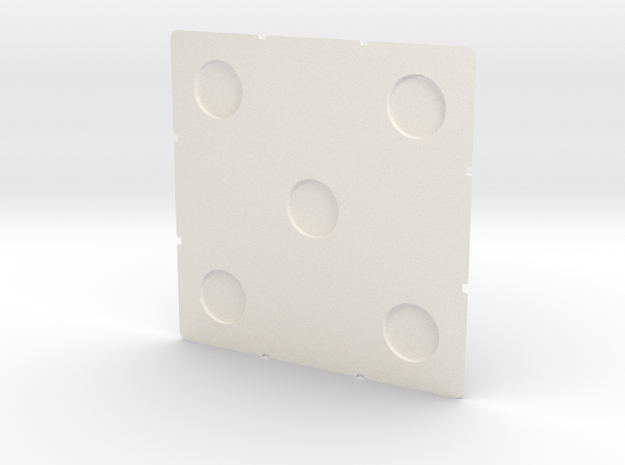 Cube Face 56 w Magnets (metric) in White Processed Versatile Plastic
