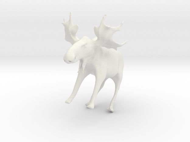 Manny the Maine Moose in White Natural Versatile Plastic