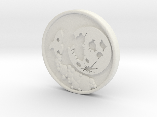 To the Moon Crypto Predictor Coin in White Natural Versatile Plastic