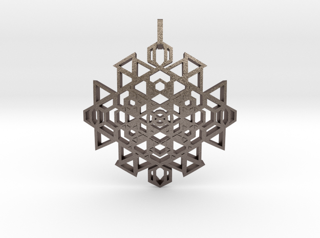 Seal of Clairsentience (Curved) in Polished Bronzed Silver Steel