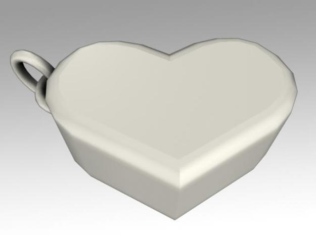 Heartbox Locket (blank) 3d printed Twisted around and unlocked.