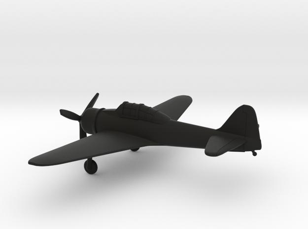 Mitsubishi A6M Zero in Black Natural Versatile Plastic: 1:144
