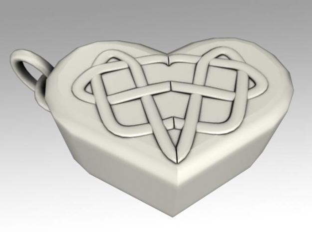 Heartbox Locket (Celtic Knot) 3d printed Twisted around and unlocked.