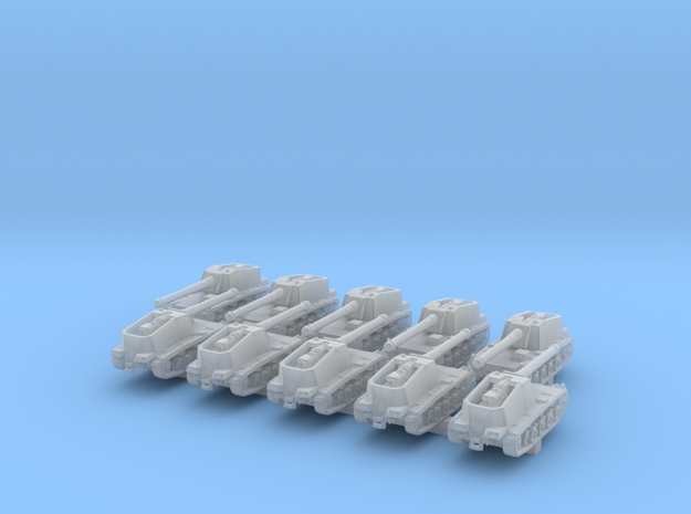 1/600 German Sturer Emil Tank Destroyer x10 in Smoothest Fine Detail Plastic