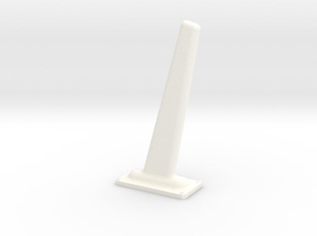 1.7 ANTENNE FOUET in White Processed Versatile Plastic