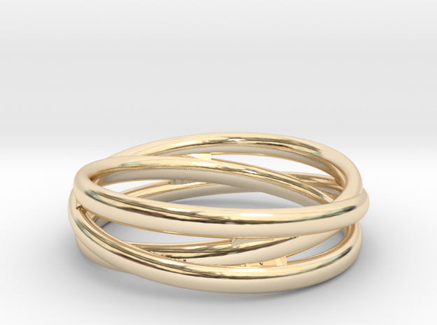Triple alliance ring in 14k Gold Plated: 8 / 56.75